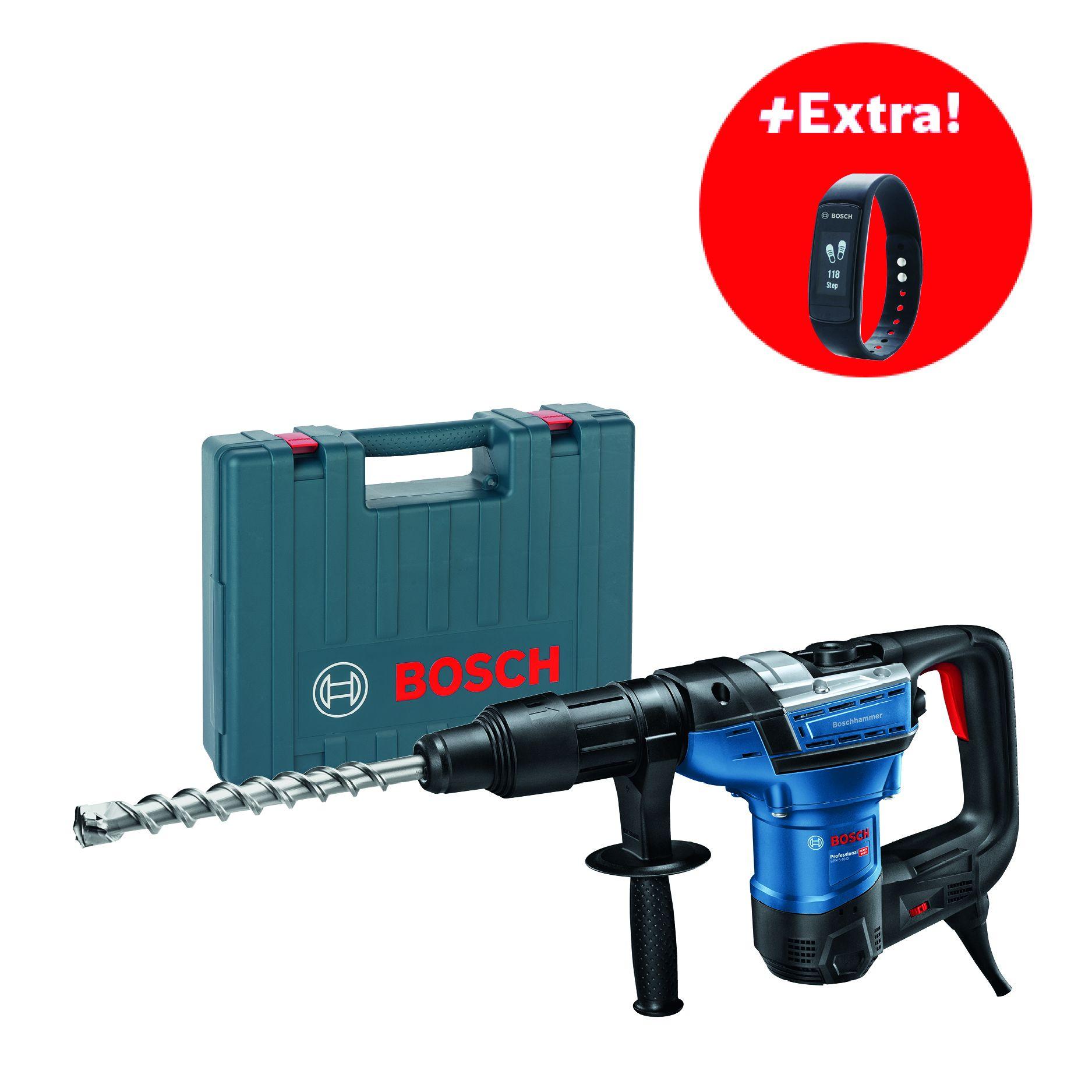 Kombinované kladivo SDS-Max Bosch GBH 5-40 D Professional + fitness náramek