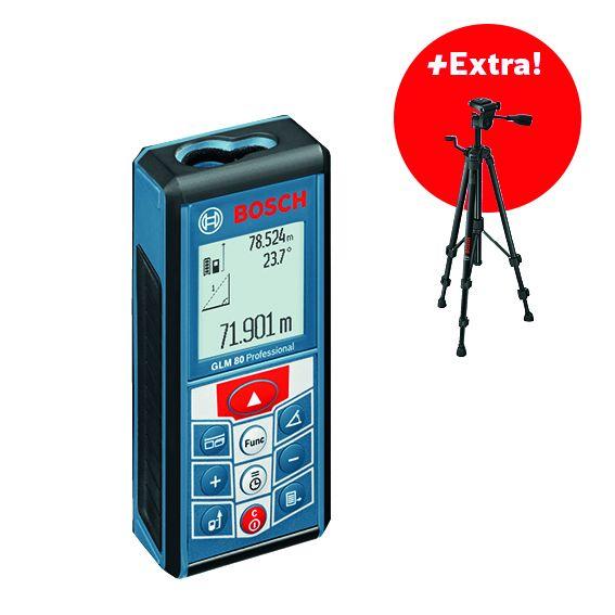 Laserový měřič vzdálenosti Bosch GLM 80 Professional, 0601072300