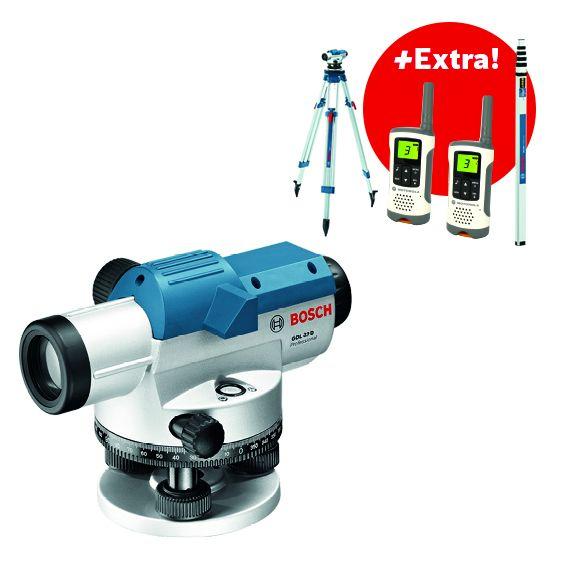 Optický nivelační přístroj Bosch GOL 32 D + měřicí lať, stativ Professional, 06159940AX