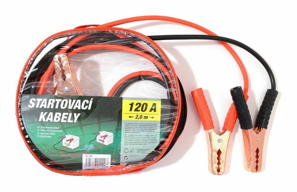 Startovací kabely 120A 2,0m zipper bag, COMPASS