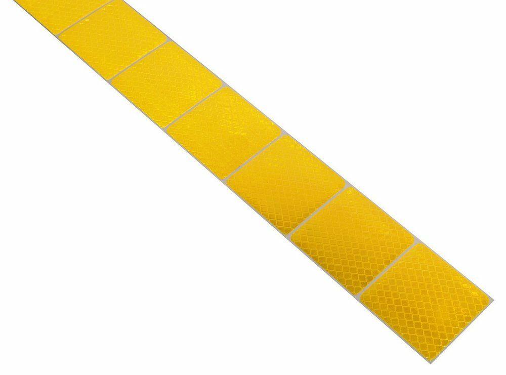 Samolepící páska reflexní dělená 1m x 5cm žlutá, COMPASS