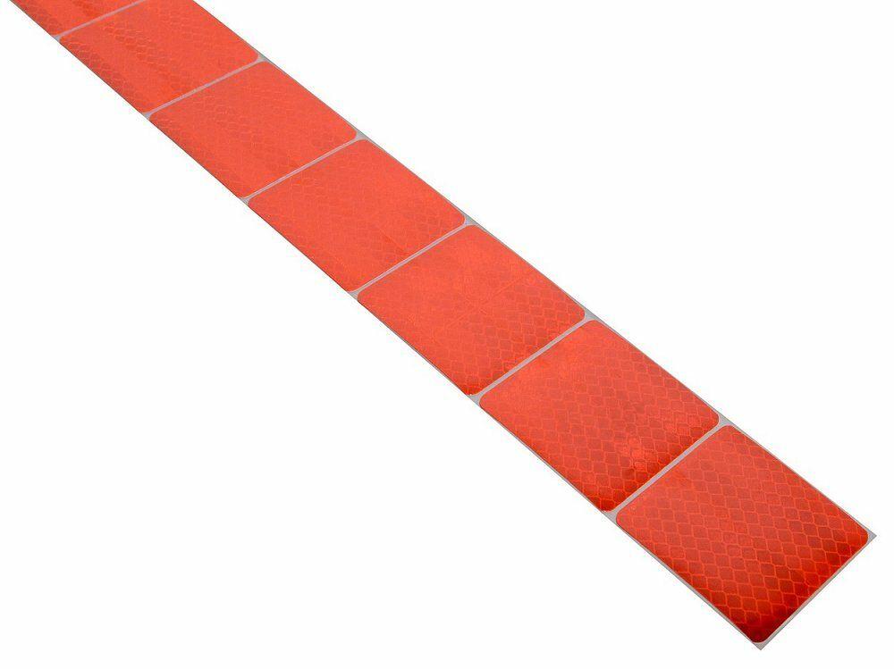 Samolepící páska reflexní dělená 1m x 5cm červená, COMPASS