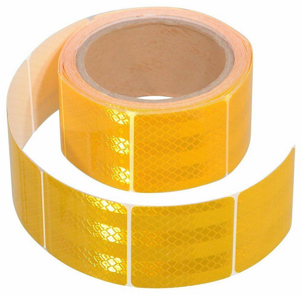 Samolepící páska reflexní dělená 5m x 5cm žlutá (role 5m) COMPASS