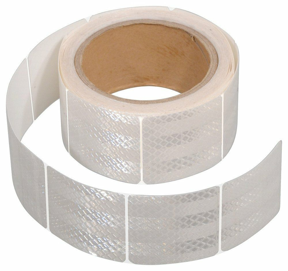 Samolepící páska reflexní dělená 5m x 5cm bílá (role 5m) COMPASS