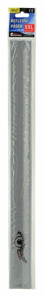 Pásek reflexní ROLLER XXL 4x44cm S.O.R. stříbrný, COMPASS