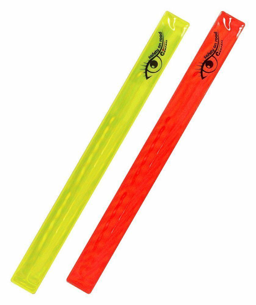 Pásek reflexní ROLLER 2ks žlutý + červený COMPASS