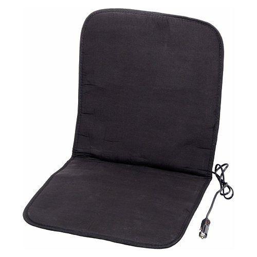 Potah sedadla vyhřívaný s termostatem 12V - černý, COMPASS