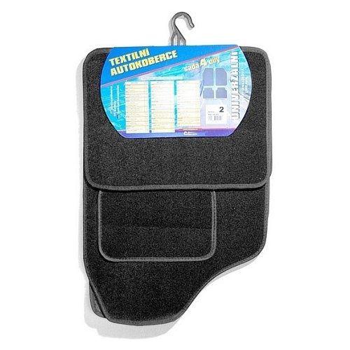 Koberce textilní UNI 4ks vel.2. černé, COMPASS