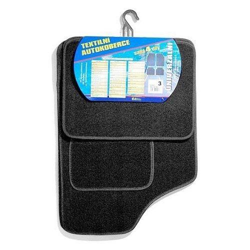 Koberce textilní UNI 4ks vel.3. černé, COMPASS