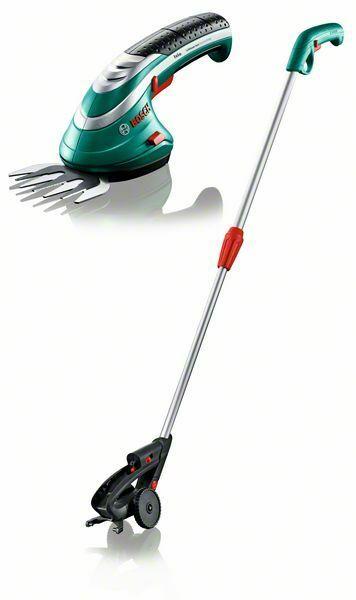Akumulátorové nůžky na trávu Bosch Isio + teleskop. násada, 0600833105