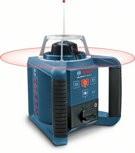 Rotační laser Bosch GRL 300 HV + přijímač, měřící lať Professional, 061599403Y