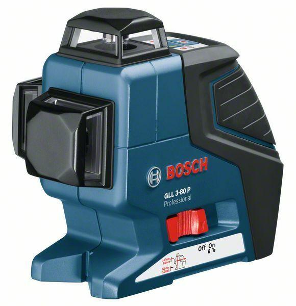 Čárový laser Bosch GLL 3-80 P + stavební stativ Professional, 060106330B