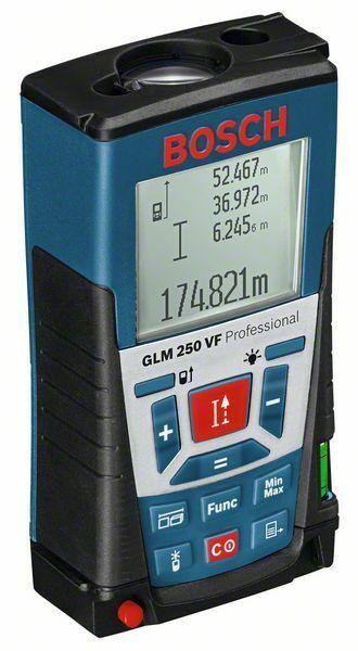 Laserový měřič vzdáleností Bosch GLM 250 VF Professional, 0601072100