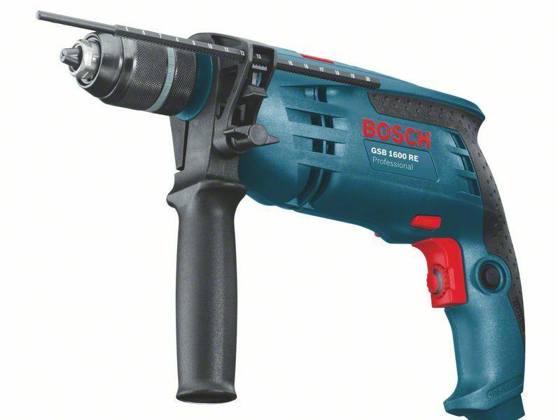 Příklepová vrtačka Bosch GSB 1600 RE Professional, 0601218121