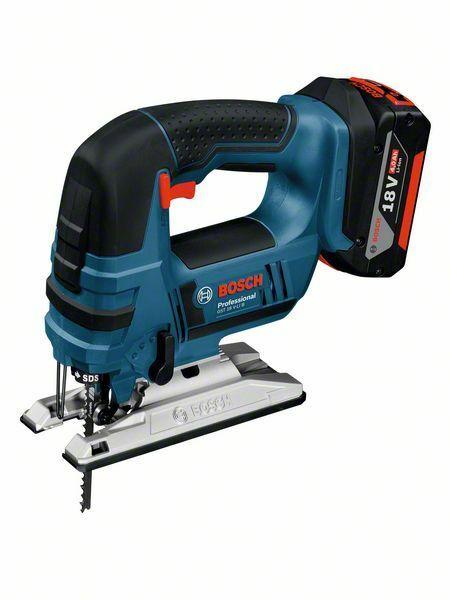 Aku kmitací pila Bosch GST 18 V-LI B Professional, nabíječka, 2x baterie, 06015A6103