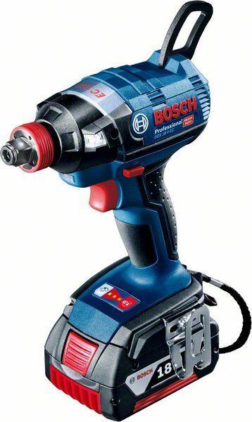 Aku rázový utahovák 1x5,0Ah + L-Boxx Bosch GDX 18 V-EC Professional, 06019B9107