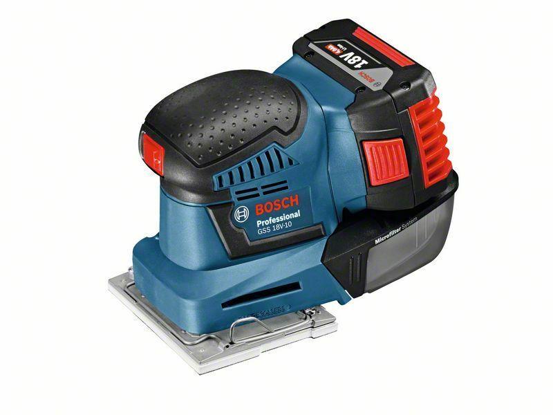 Aku vibrační bruska Bosch GSS 18V-10 Professional (2x aku + nabíječka), 06019D0201