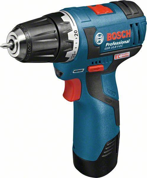 Aku vrtací šroubovák Bosch GSR 10,8 V-EC Professional, 2x AKU 2,5Ah, 06019D4004