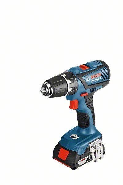 Aku vrtací šroubovák Bosch GSR 18-2-LI Plus Professional (2x aku, nabíječka), 06019E6121