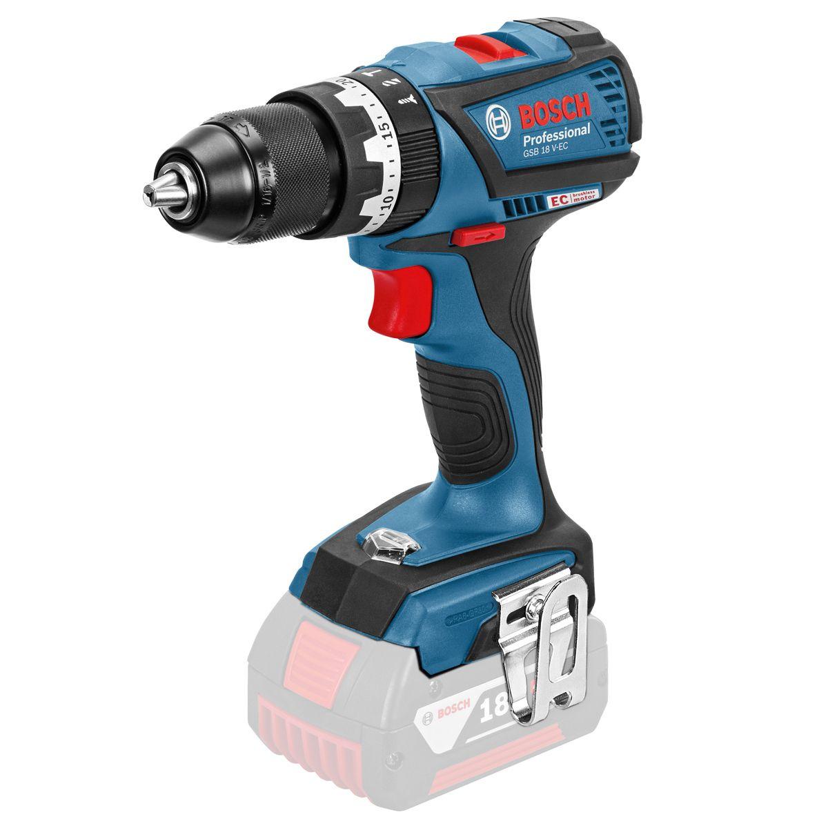Aku kombinovaný šroubovák Bosch GSB 18 V-EC Professional - bez baterie, 06019E9100