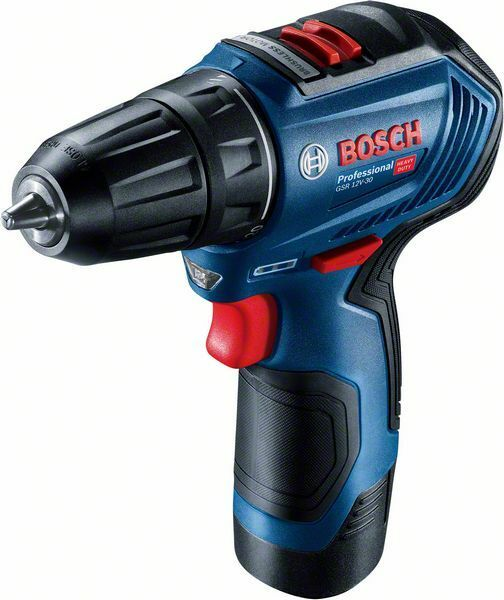 Aku vrtací šroubovák Bosch GSR 12V-30 Professional, 2x2.0Ah, kufr, 06019G9000