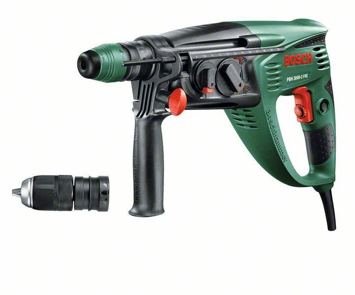 Vrtací kladivo Bosch PBH 3000-2 FRE + plastový kufr, 750W, 2,8J, 0603394220