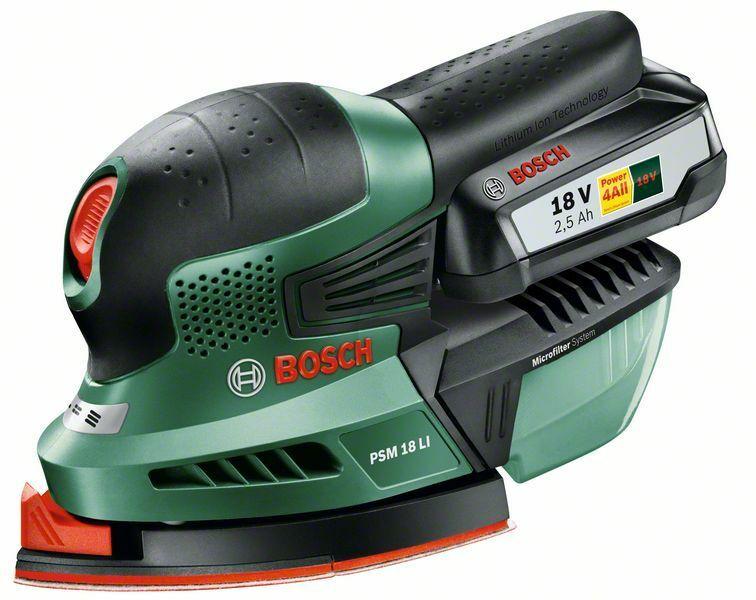 Aku multibruska PSM 18 LI Bosch (baterie 2,5 Ah, nabíječka), 06033A1323