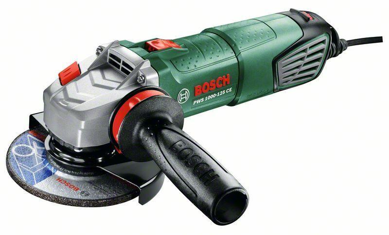 Úhlová bruska Bosch PWS 1000-125 CE + plastový kufr, 125mm, 06033A2820