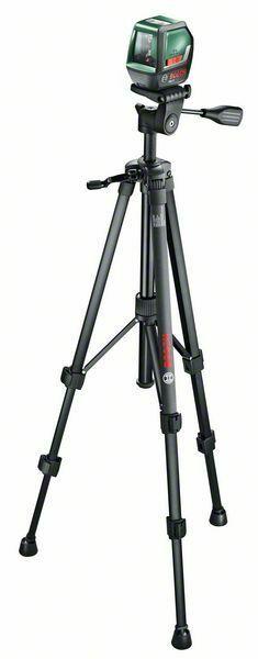 Samonivelační křížový laser Bosch PLL 2 Set, stativ, 0603663401