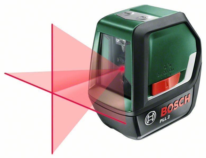 Samonivelační křížový laser Bosch PLL 2 + ochranné pouzdro, 0603663420