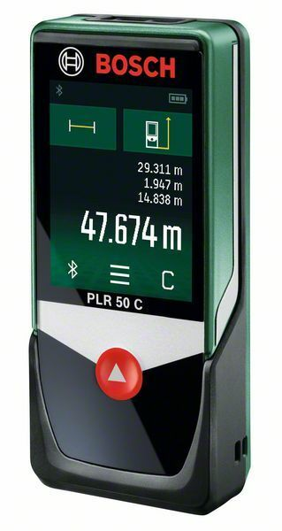 Digitální laserový dálkoměr Bosch PLR 50 C + ochranné pouzdro, 0603672221