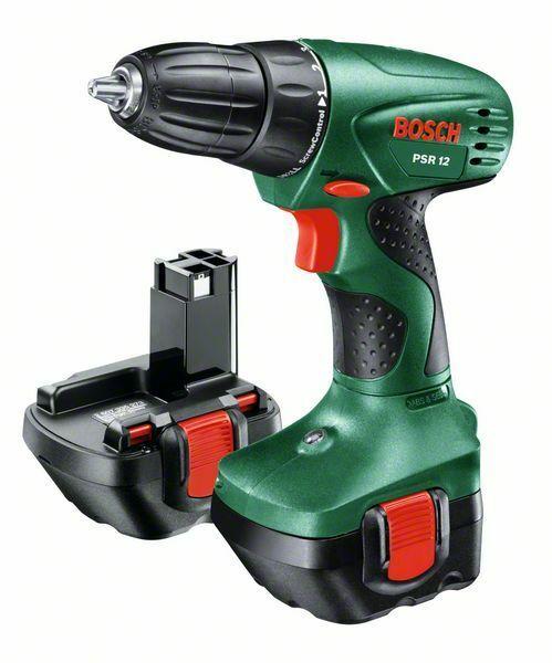 Aku vrtací šroubovák Bosch PSR 12, 2x akumulátor + nabíječka, 0603955521