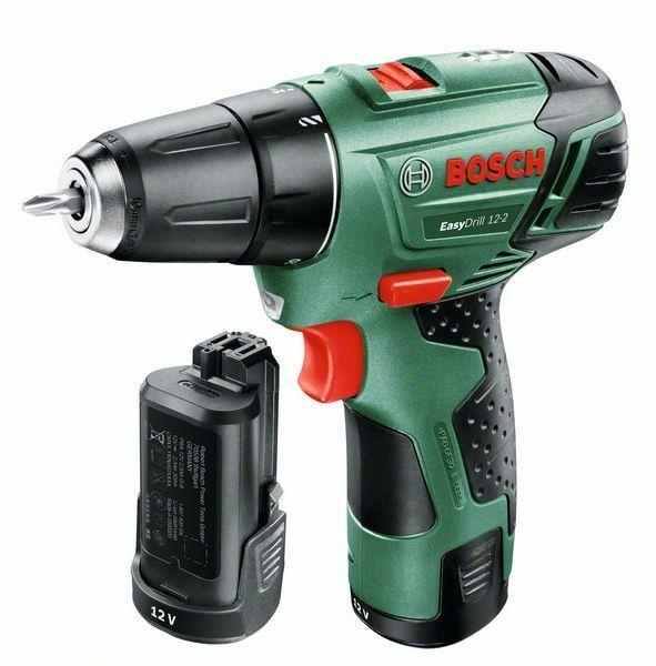 Aku vrtací šroubovák Bosch EasyDrill 12-2, 2x 2,5 Ah, 060397290X