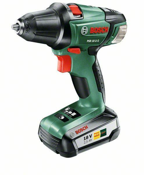 Aku vrtací šroubovák Bosch PSR 18 LI-2, 18,0 v, 2.5 Ah, 0 – 400 / 1.340 ot/min, 060397330G