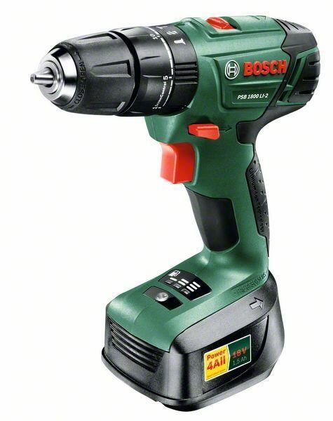 Aku kombinovaný šroubovák Bosch PSB 1800 LI-2 (baterie, nabíječka), 06039A3320