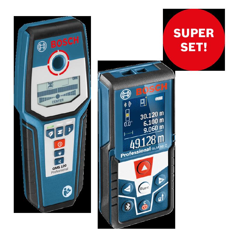 Laserový dálkoměr Bosch GLM 50 C Professional + detektor GMS 120