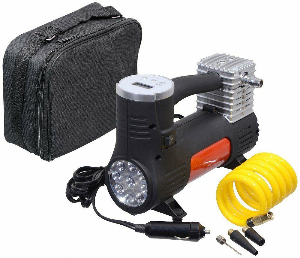Kompresor 12V POWER BULL digitální se světlem, COMPASS