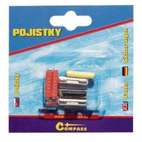 Pojistky plastové, 10 ks COMPASS