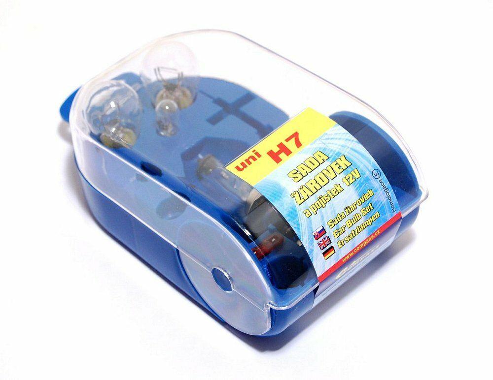 Žárovky servisní box univerzální H7, COMPASS