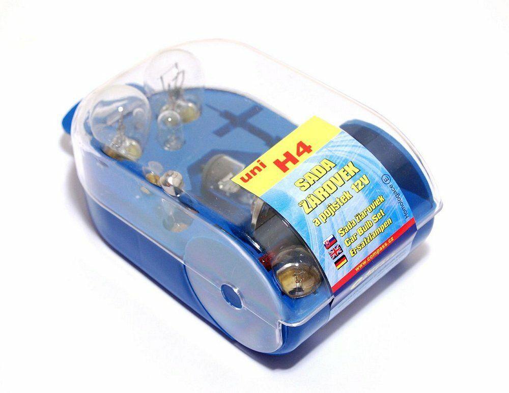 Žárovky servisní box univerzální H4, COMPASS