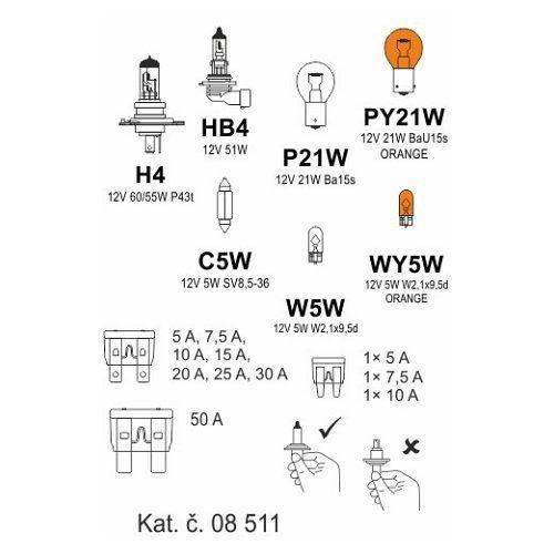 Žárovky box ŠKODA ROOMSTER H4 + FAB II. COMPASS