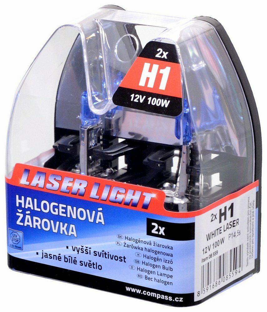 Žárovka 12V H1 100W P14,5s WHITE LASER 2ks, COMPASS