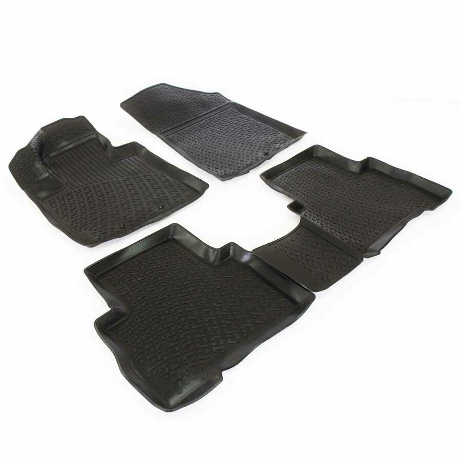 Gumové koberce Kia Sorento II Facelift (XM) (12-)  (3D) SIXTOL