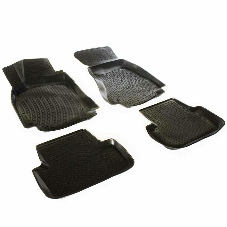 Gumové koberce Audi A4 Limousine / Avant (B8 8K) (4-dv) (07-15)  (3D) SIXTOL