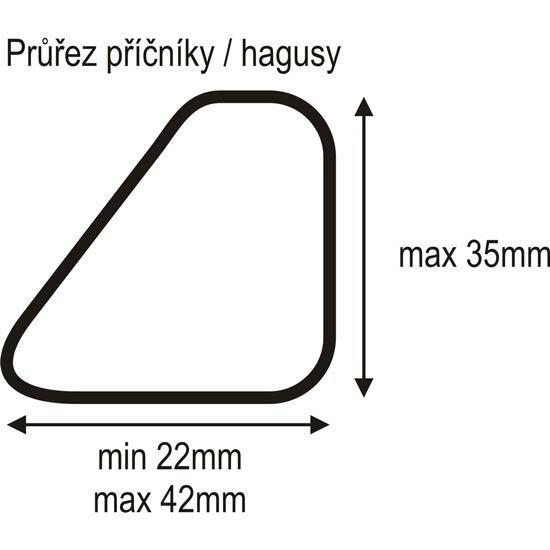 Střešní nosič příčník 115cm zámek (REL ALU DZ), DIHENG