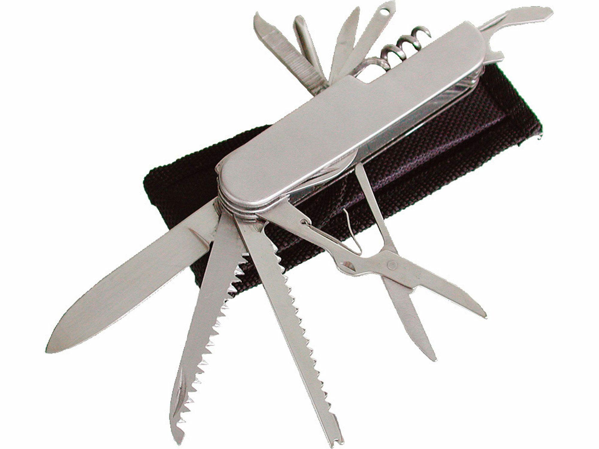 Nůž zavírací 11dílný s pouzdrem, 90mm, délka zavřeného nože 90mm, NEREZ, EXTOL CRAFT