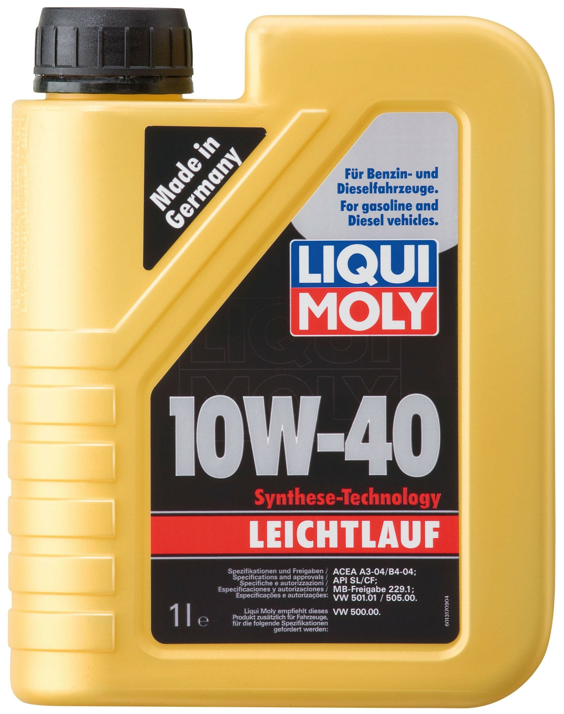 Motorový olej Liqui Moly Leichtlauf 10W40 1L LIQUI-MOLY