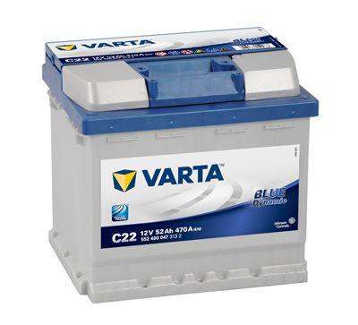 Baterie Varta Blue Dynamic 12V 52Ah 470A, 5524000473132, VARTA