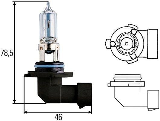 Žárovka HELLA HB3 12V 60W P20d, 8GH 005 635-121