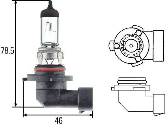 Žárovka HELLA HB1 12V 51/55W PK22d, 8GH 005 636-121